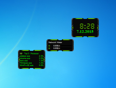 HUD Machine Green Gadgets
