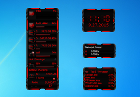HUD Machine Red Gadgets