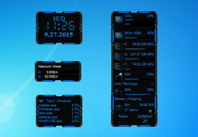 HUD Machine Blue Gadgets