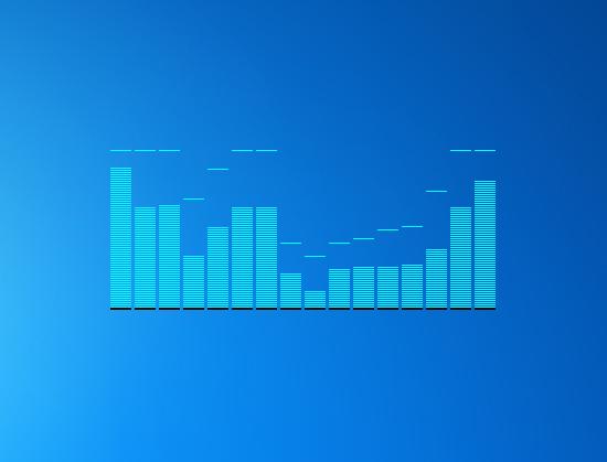 Spectrum Analyzer - Windows 7 Desktop Gadget