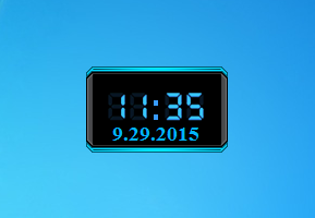 Blade Digital Clock