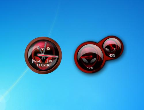 Red alienware clock and cpu meter windows 7 desktop gadget red alienware clock and cpu meter gadgets voltagebd Choice Image