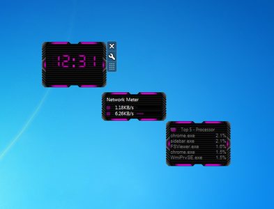 HUD Machine Pink Gadgets for Windows 7