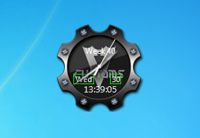 how to set clock gadget in windows 8