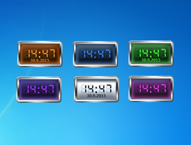 SF Digital Clock Gadget for Windows 7