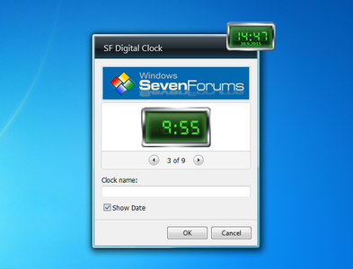 SF Digital Clock settings