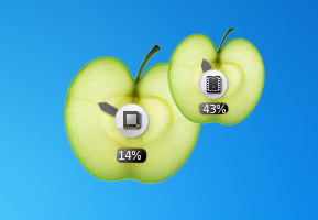 Fruity Apple CPU Meter