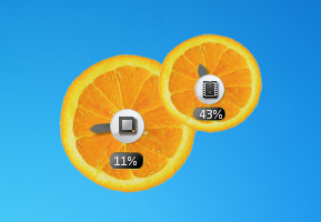 Fruity Orange CPU Meter