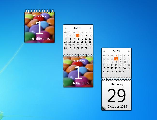Monthly Calendar Gadget For Windows : Sweet calendar gadget windows desktop