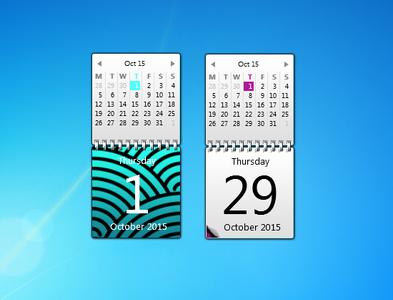 Color Calendar gadgets for Windows 7