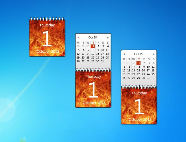 Monthly Calendar Gadget For Windows : Flame calendar gadget windows desktop