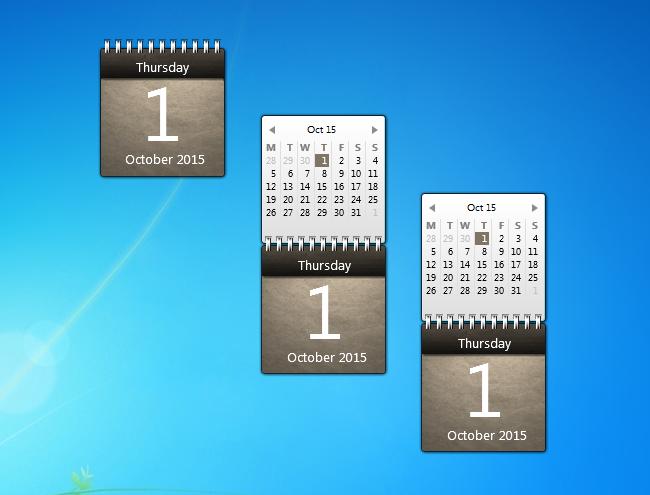Calendar Planner Desktop Gadget : Musty calendar windows desktop gadget