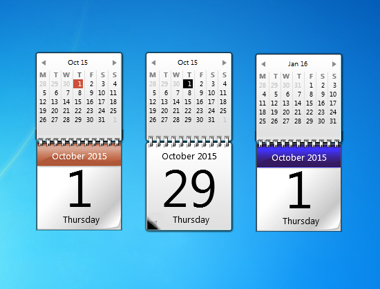 Desktop Calendar Windows 7 : Original calendar windows desktop gadget