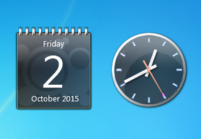 Aero X Blue Clock And Calendar