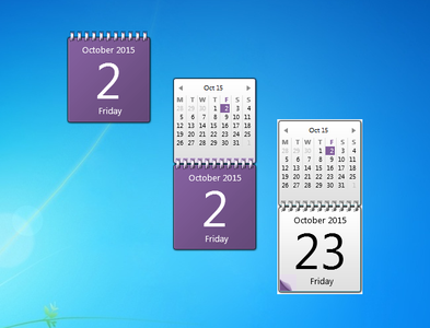 Purple Calendar gadget
