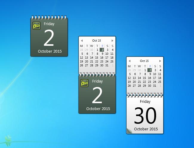 Monthly Calendar Gadget For Windows : Deviantart calendar windows desktop gadget