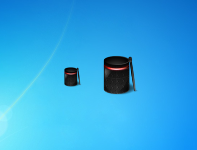 Blue and Red Bin Gadget