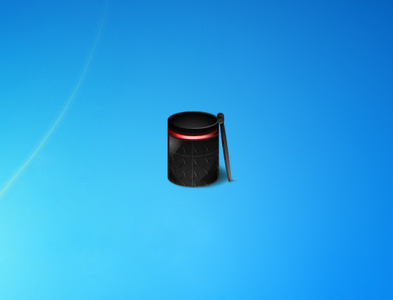 Blue and Red Bin Gadget for Windows 7