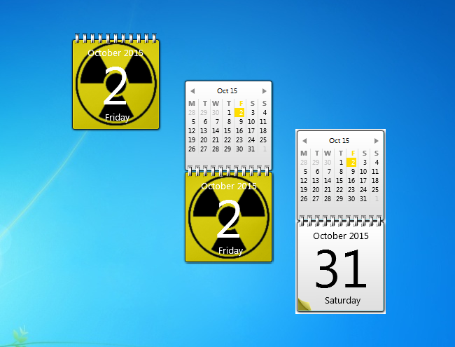 Calendar Planner Desktop Gadget : Radioactive calendar windows desktop gadget