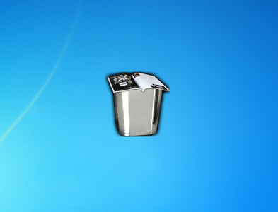 Recycle Bin Metalico Gadget for Windows 7