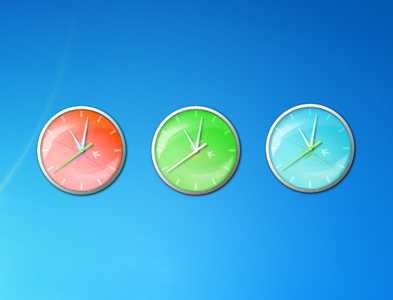 MicroActive Clock Gadget for Windows 7