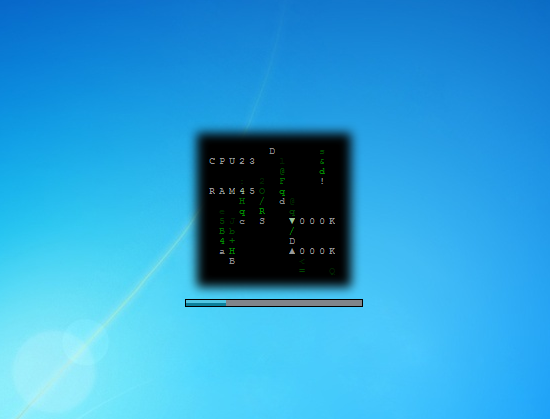Matrix - Pc Meter - Windows 7 Desktop Gadget