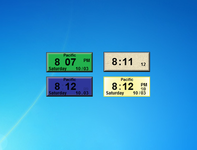 AGS Digital Multi-Clock Gadgets for Windows 7