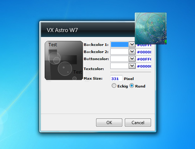 VX Astro W7 Gadget settings