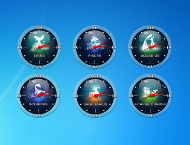 Zodiac Clock Gadget for Windows
