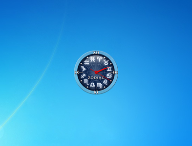 Zodiac Clock Gadget for Windows 7