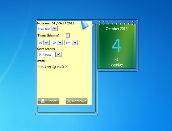 Monthly Calendar Gadget For Windows : Zcalendar windows desktop gadget
