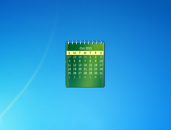 Desktop Calendar Windows 7 : Zcalendar windows desktop gadget