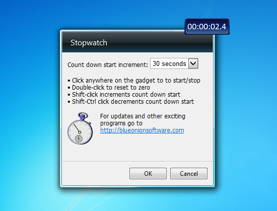 Stopwatch gadget - No longer shows as an option to install