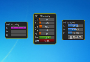 CPU And Memory Gadgets Set
